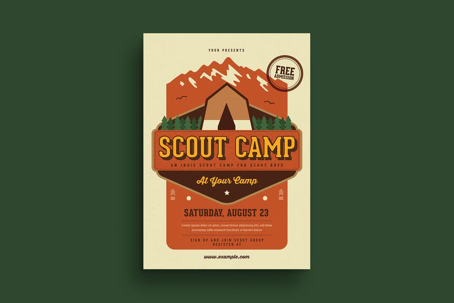 Scout Camp Poster Templates