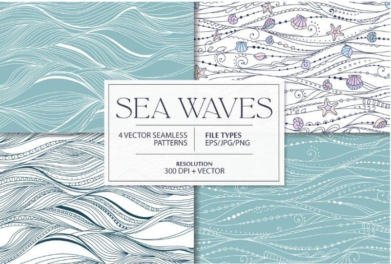 Sea Waves Pattern Designs
