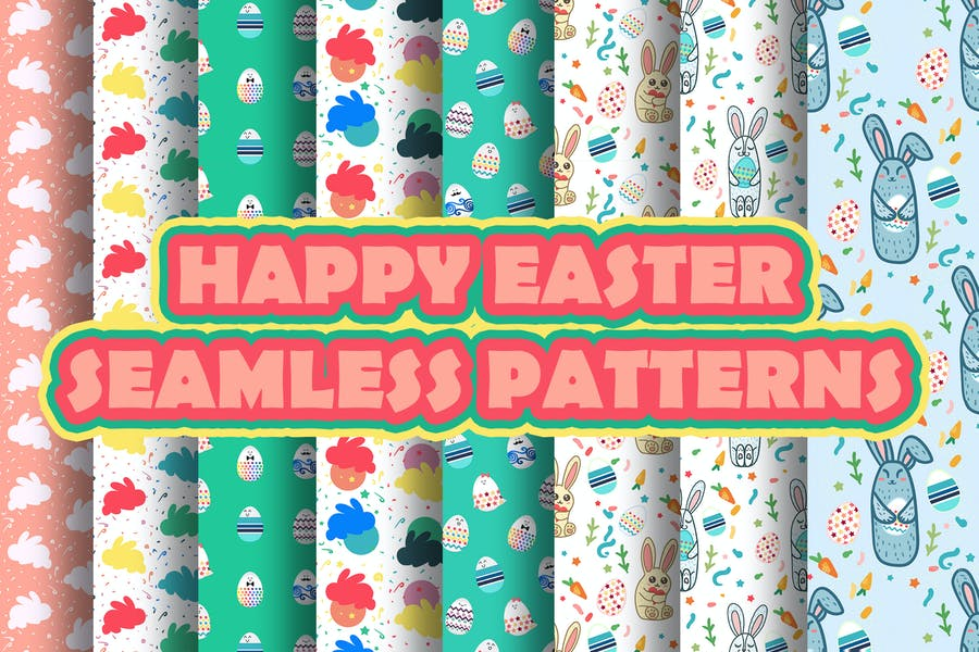 Seamless Easter Paper Background