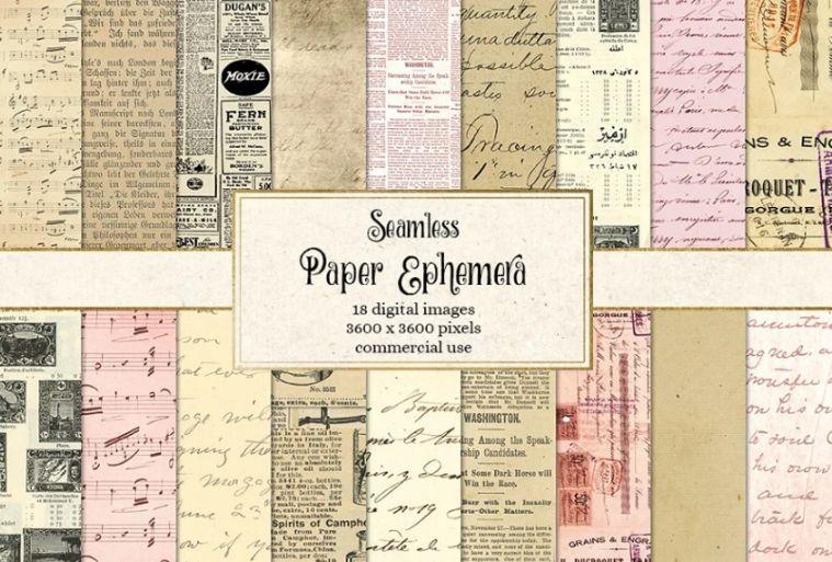 Seamless Ephemera Digital Paper