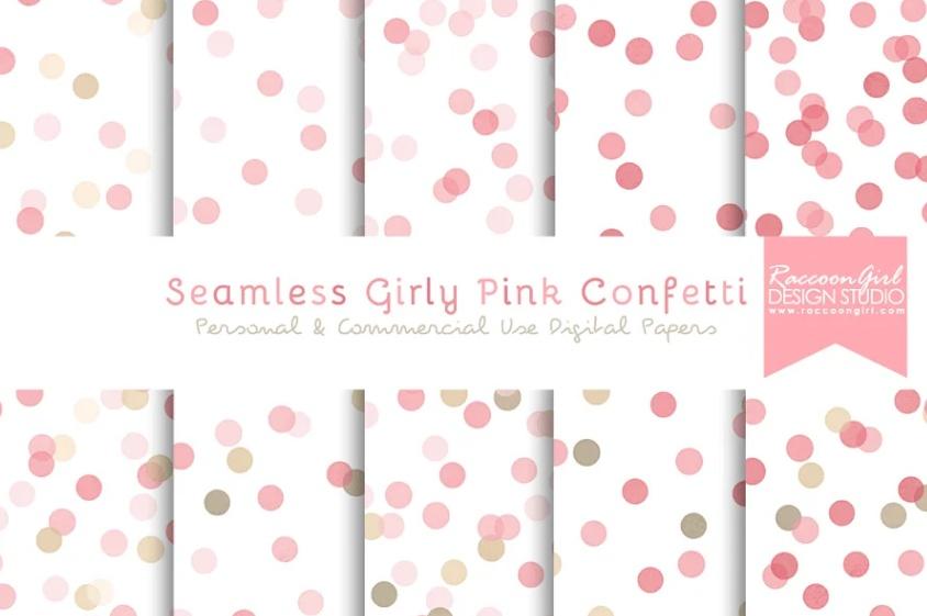 Seamless Girly Pattern Background