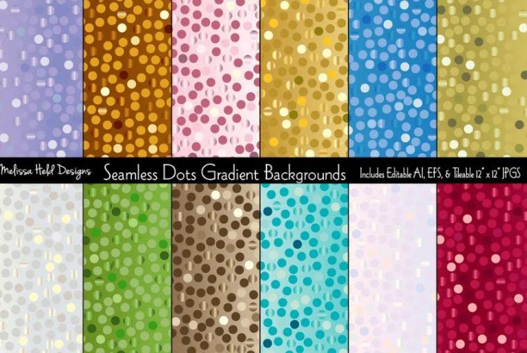 Seamless Polka Dot Backgrounds