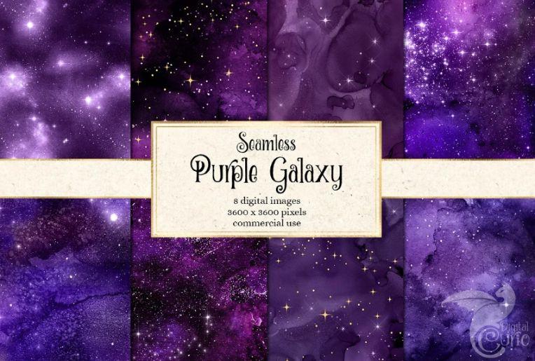 Seamless Purple Background Designs