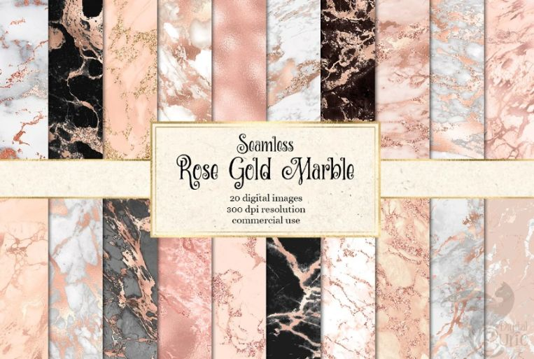 Seamless Rose Gold Marble Textures
