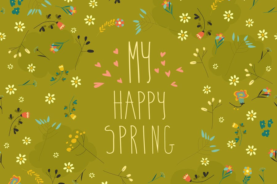 Seamless Spring Backgrounds