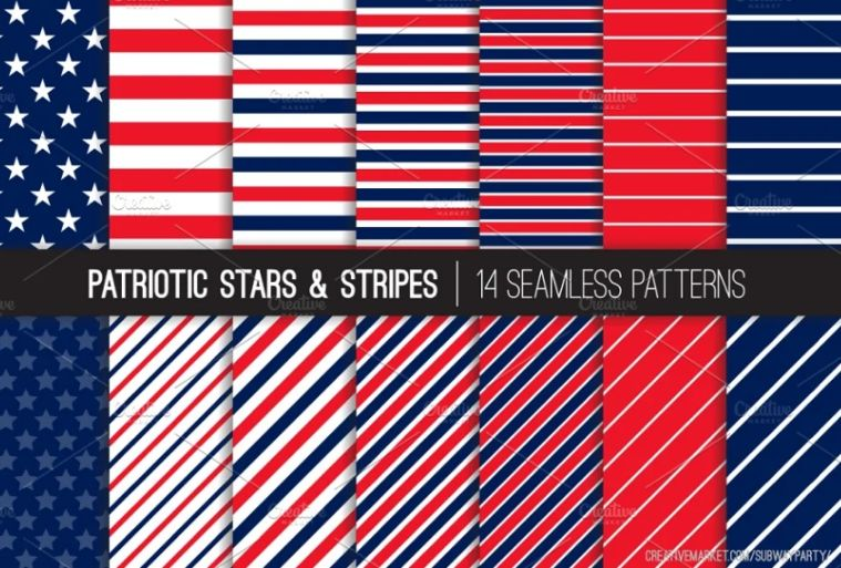 Seamless Stars and Stripes Backgrounds