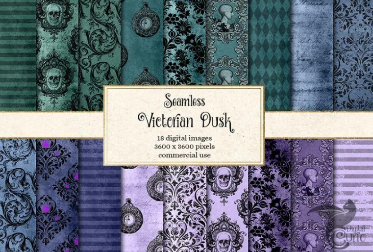Seamless Victorian Dusk Backgrounds