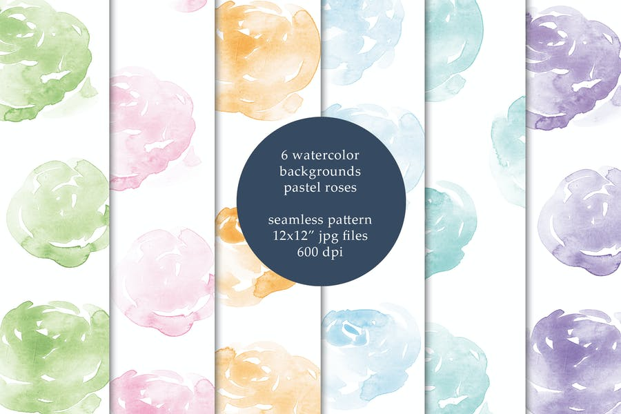 Seamless Watercolor Background Design