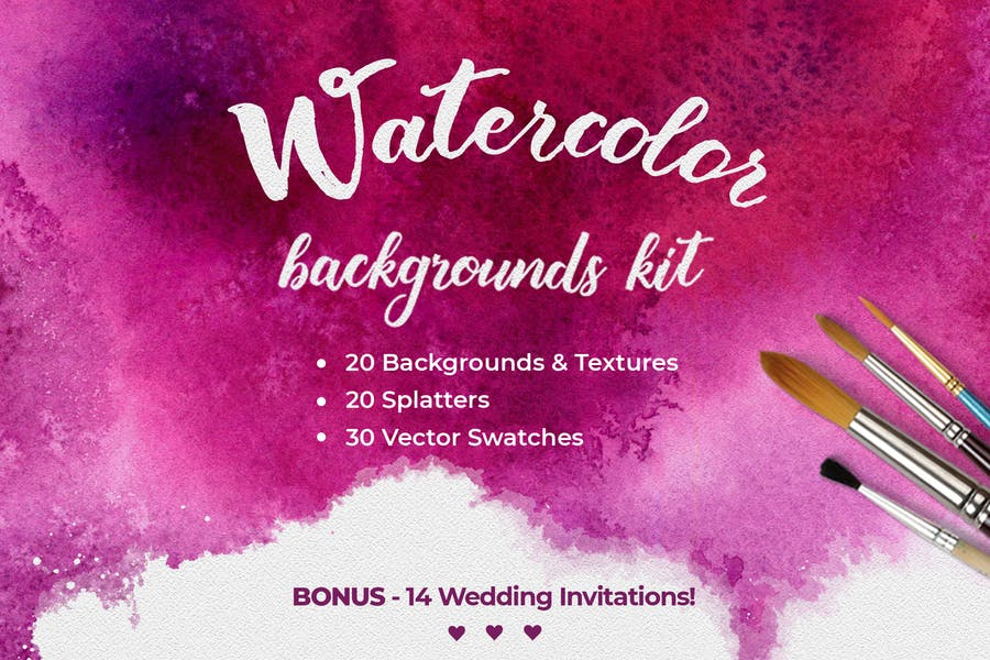 Seamless Watercolor Background Kit