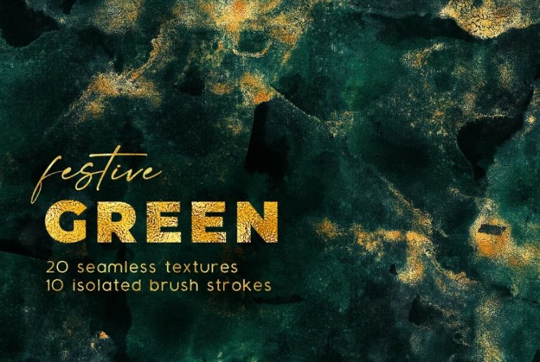 Seamless Watercolor Green Backgrounds