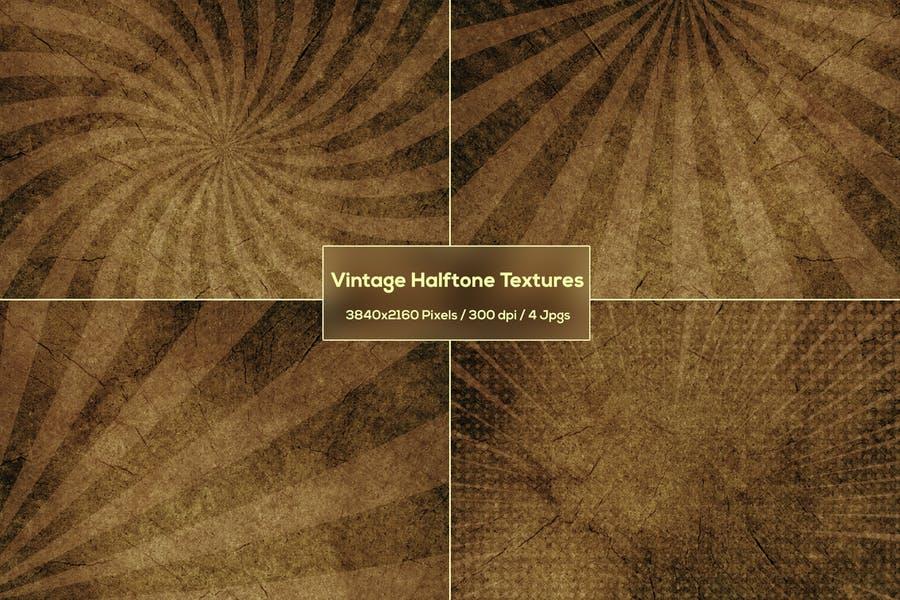 Set of Vintage Halftone Backgrounds