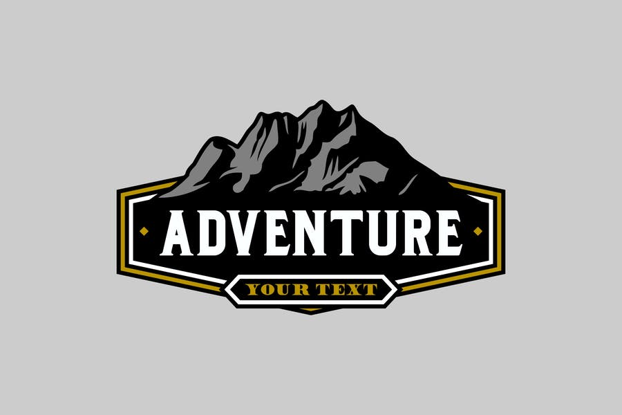 Shield Style Adventure Logotype