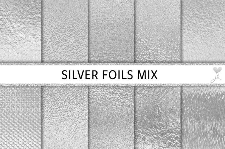 21+ Creative Silver Foil Textures PNG JPG Download