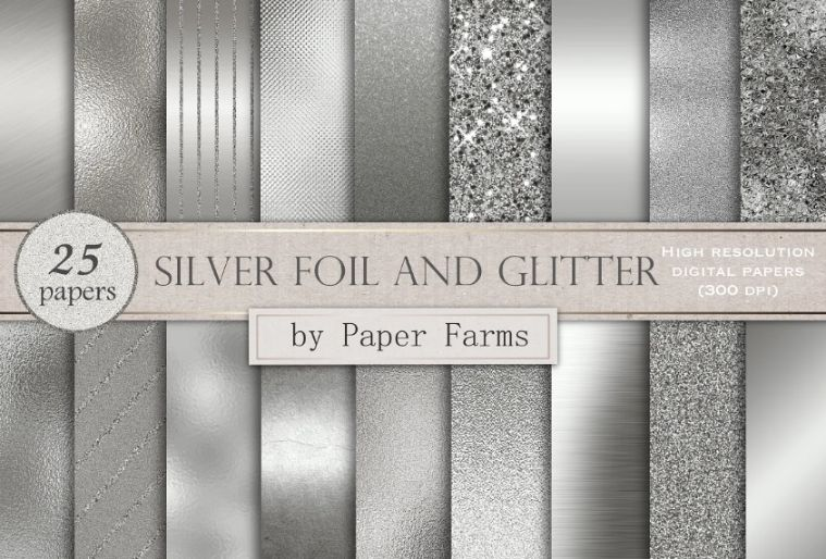 Silver Foil and Glitter Textures