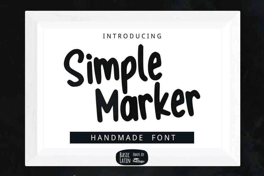 Simple Handmade Marker Font