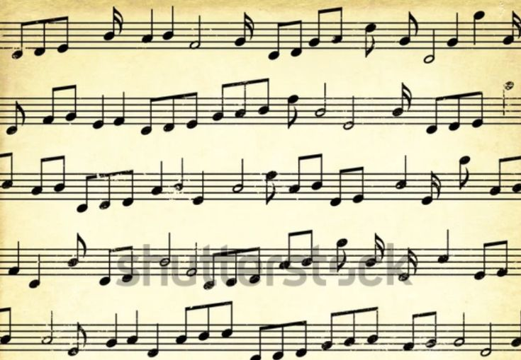 Simple Music Note Texture