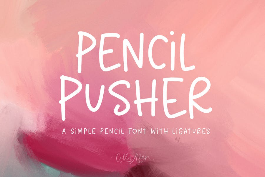 Simple Pencil Style Fonts