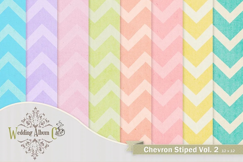 Simple Style Chevron Digital Papers