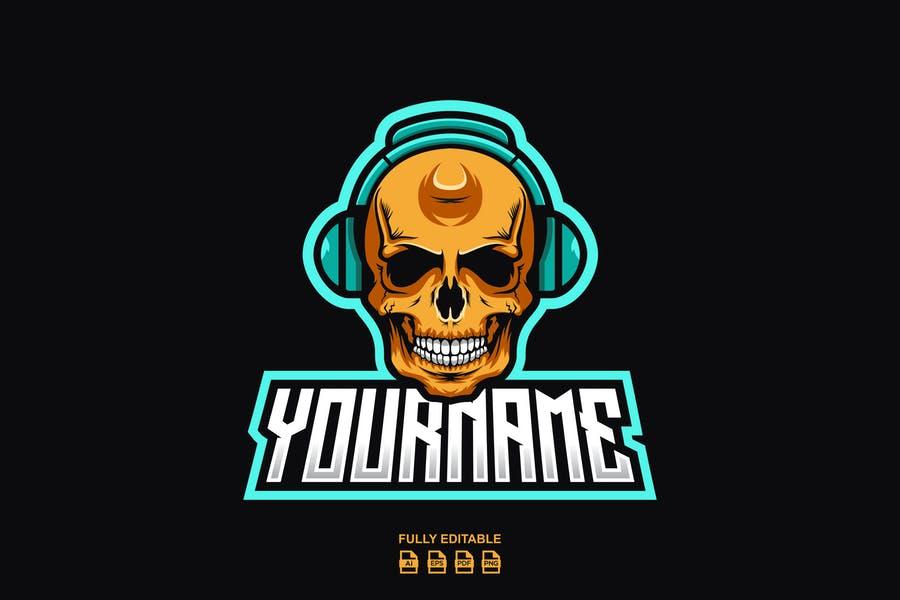 Skull Style DJ Logo