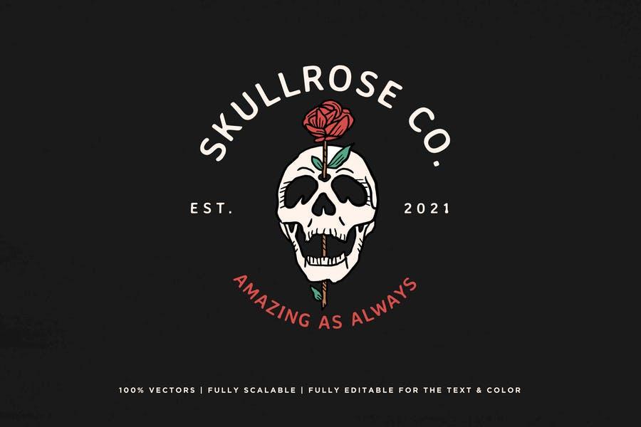 Skull Style Logo Identity