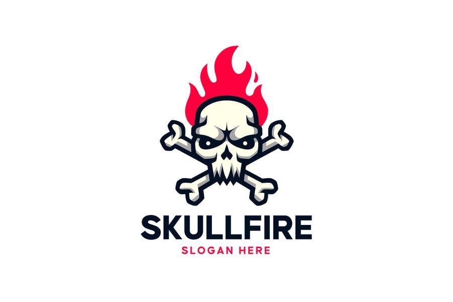 Skull on Fire Logo