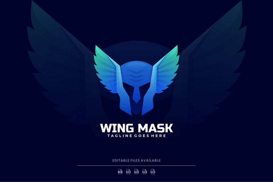 Skull with Wings Logo Design