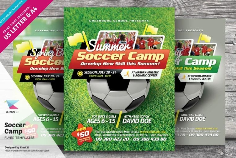 Soccer Camp Event Flyers