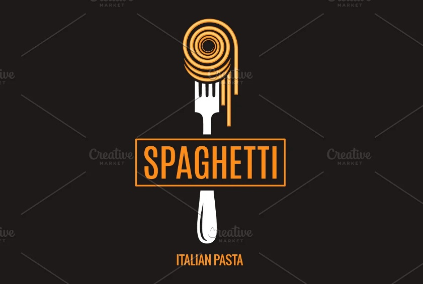 Spaghetti on Fork Logo Design