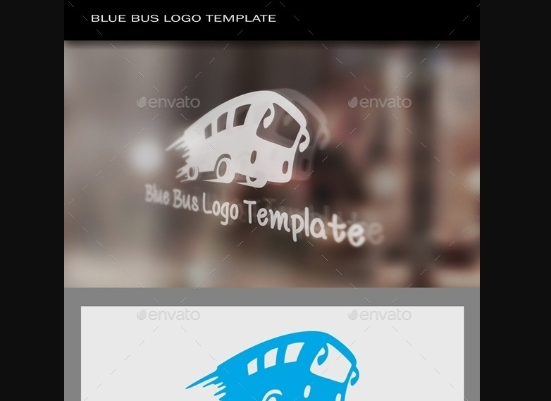 Speeding Bus Logo Design