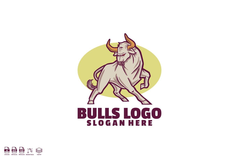 Strong Bulls Logo Identity