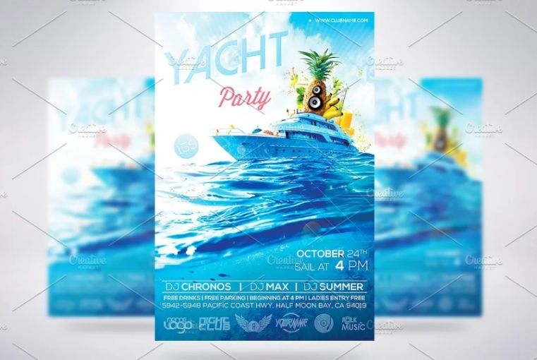 Summer Party Events Flyes