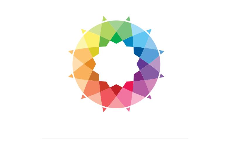 Sun Rainbow Color Template