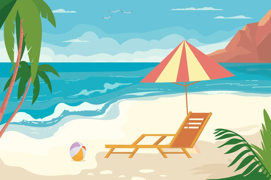 Sunny Beach Backgrounds