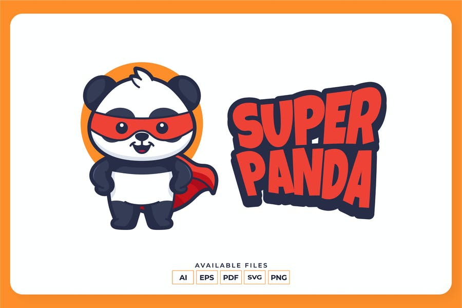 Super Panda Identity Designs