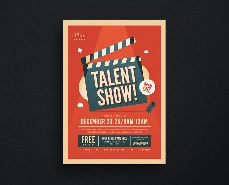15+ FREE Talent Show Flyer Template Download