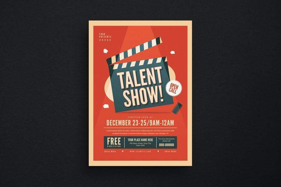 Talen Show Event Flyer