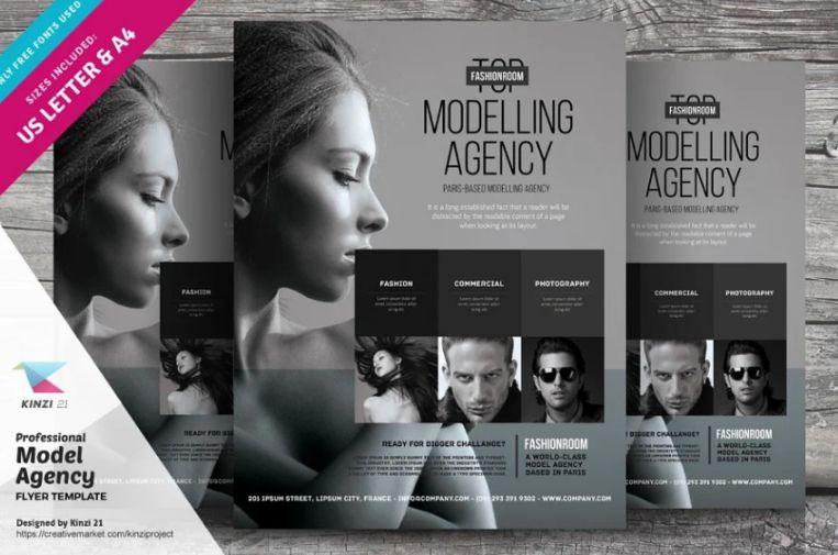 Talent Agency Flyer Template