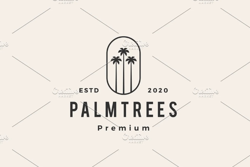 Tall Palm Tree Logos