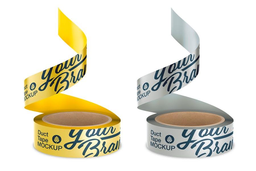 Tape Branding Design Mockup PSD
