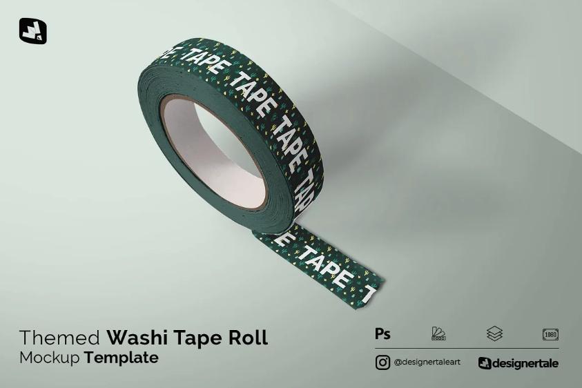 Tape Roll Mockup PSD