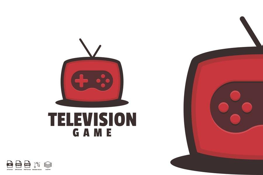 Telivision Game Style Branding Logo