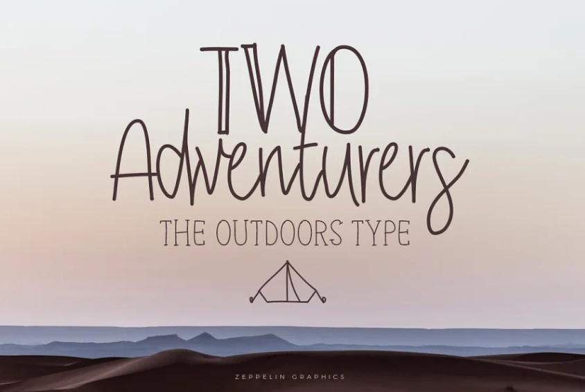 Thin lIne Adventure Typeface