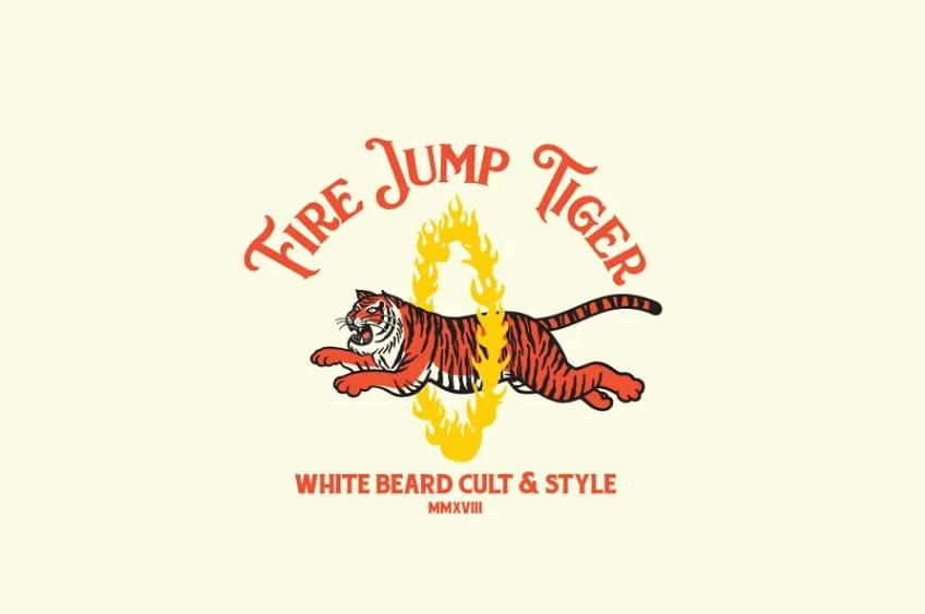 Tiger Jump Logo Design