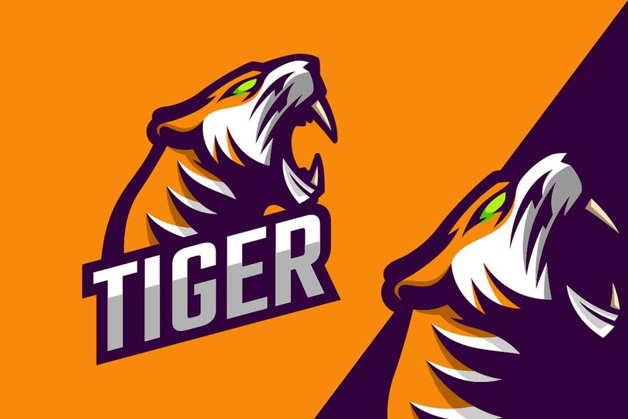 Tiger Mascot Logotype