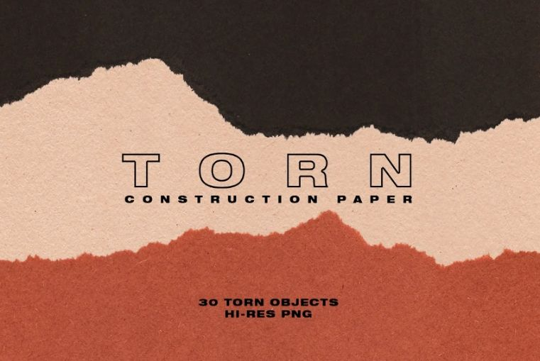 Torn Construction Paper Background