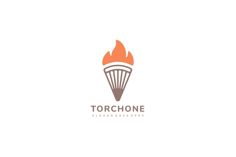 Tourch With Fire Logo