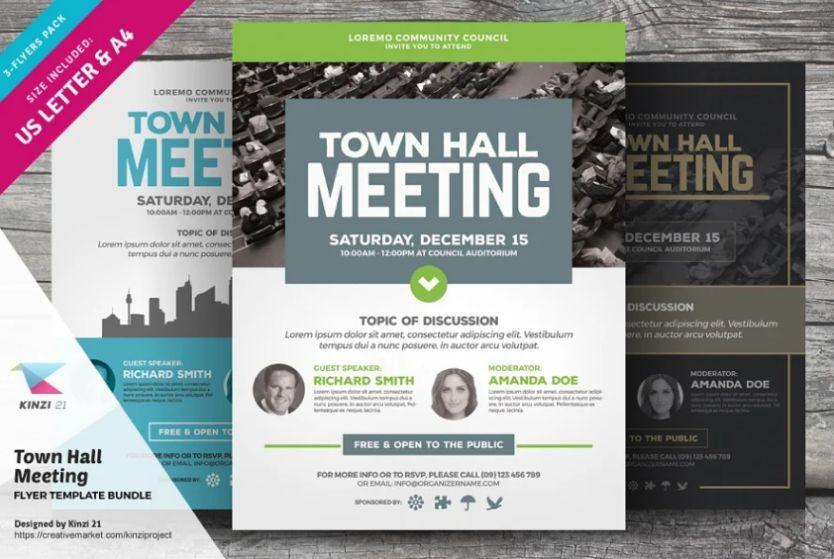 Townhall Seminar Flyer Bundle