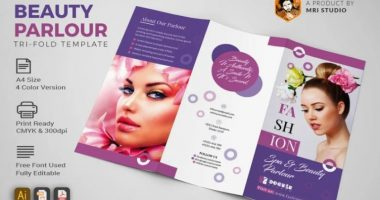 Beauty Parlor Brochure Template