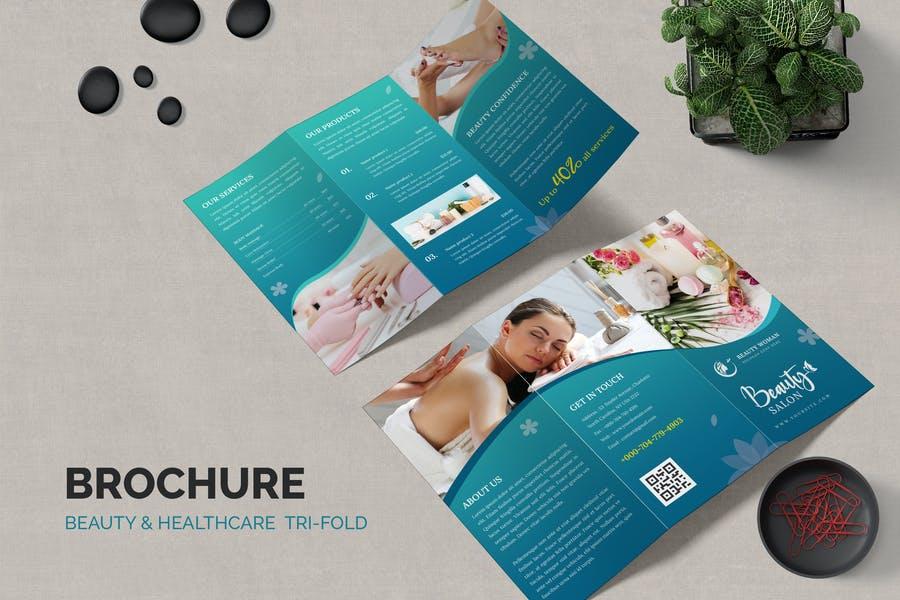 Tri Fold Salon Brochure