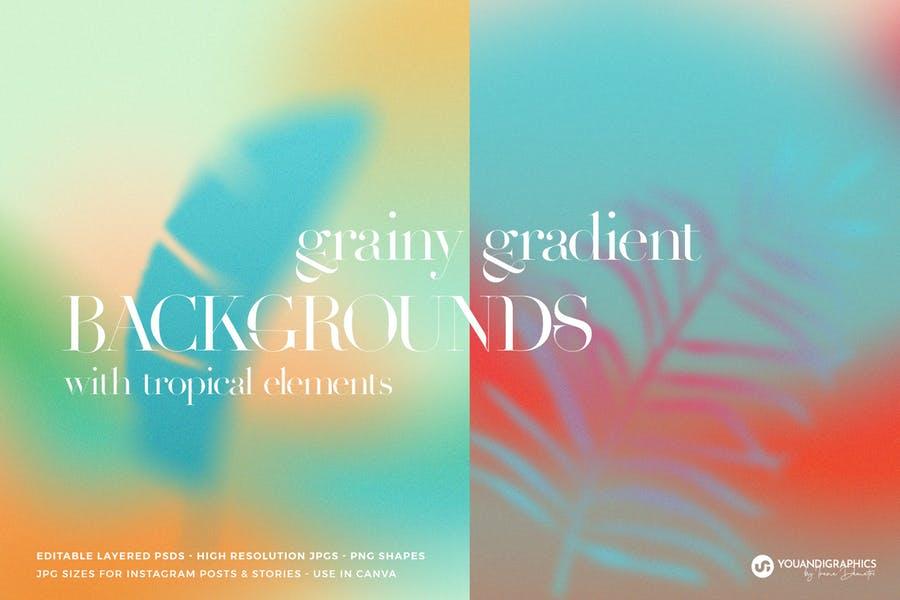 Tropical Grainy Background Textures